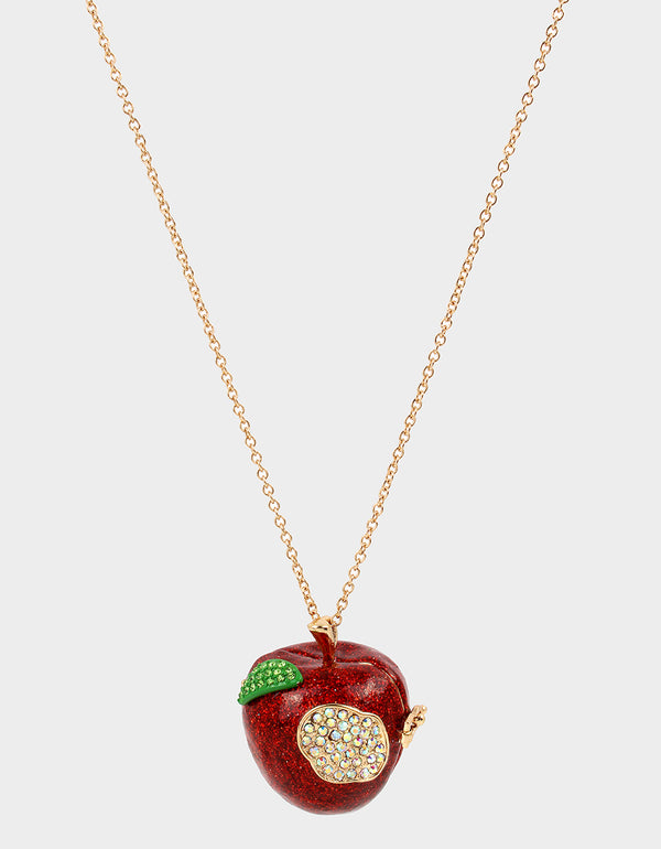 BACK TO SCHOOL APPLE PENDANT RED - JEWELRY - Betsey Johnson