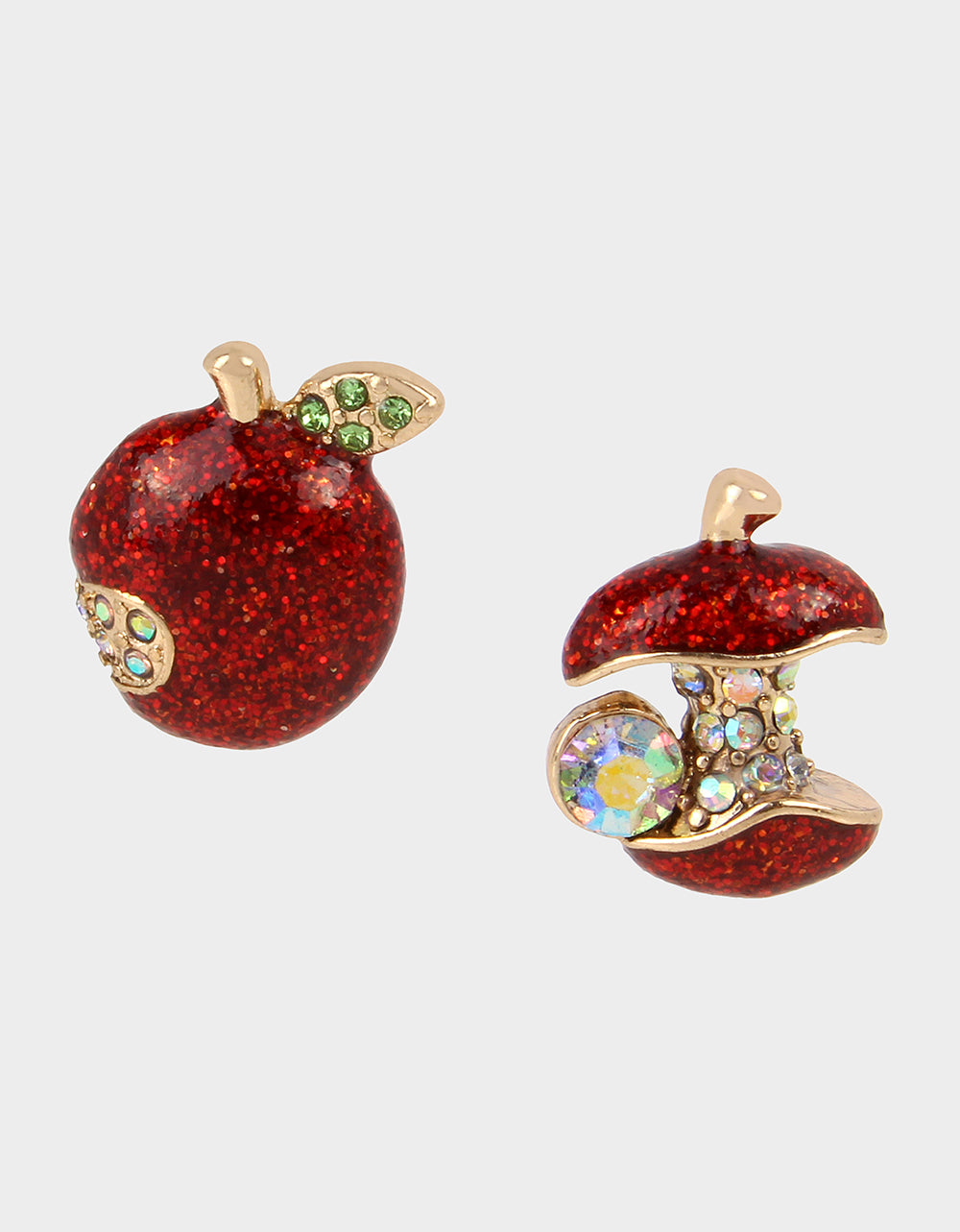 BACK TO SCHOOL APPLE STUDS RED - JEWELRY - Betsey Johnson