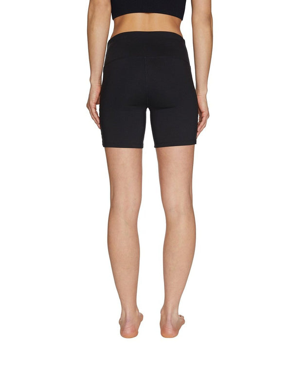 BANDED CUTOUT 5 INCH SHORT BLACK - APPAREL - Betsey Johnson