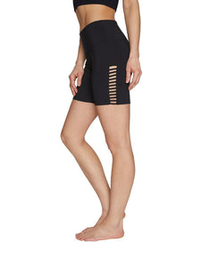 BANDED CUTOUT 5 INCH SHORT BLACK
