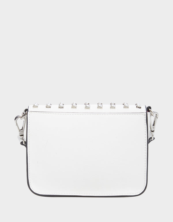 BAUBLE BLING CROSSBODY WHITE - HANDBAGS - Betsey Johnson
