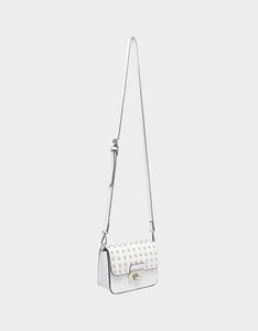 BAUBLE BLING CROSSBODY WHITE