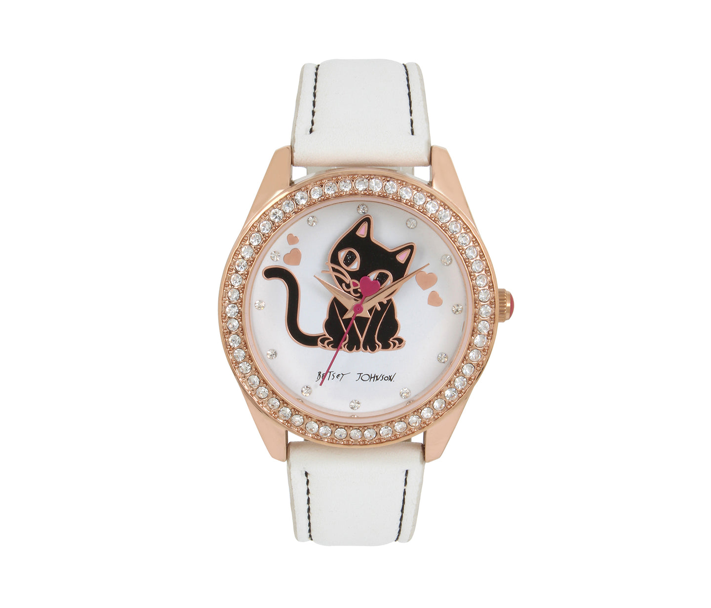BAUBLE HEAD KITTY WATCH WHITE - JEWELRY - Betsey Johnson