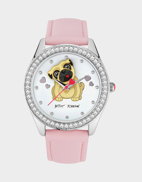BAUBLE PUG WATCH PINK - JEWELRY - Betsey Johnson