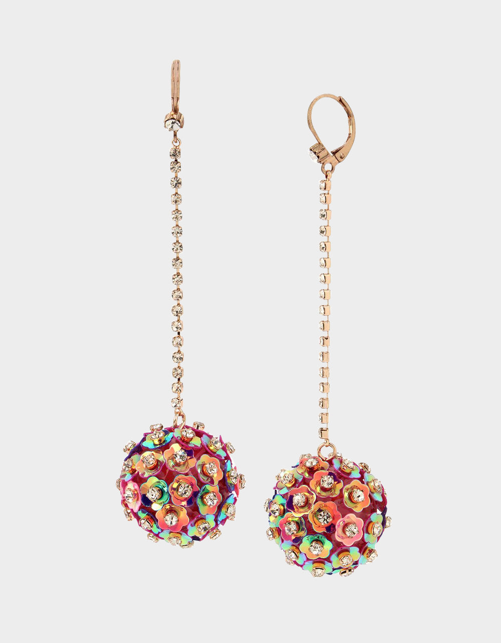 BEACH PARTY BALL LINEAR EARRINGS FUCHSIA - JEWELRY - Betsey Johnson