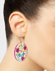 BEACH PARTY DISC EARRINGS MULTI
