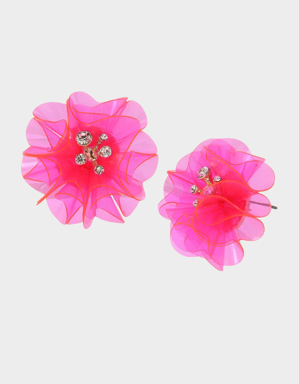 BEACH PARTY FLOWER BUTTON EARRINGS PINK - JEWELRY - Betsey Johnson