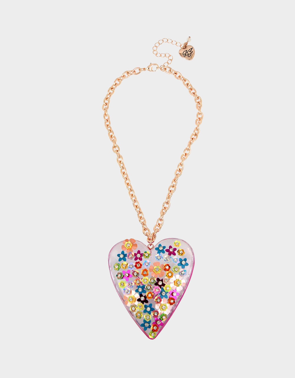 BEACH PARTY STATEMENT HEART NECKLACE MULTI - JEWELRY - Betsey Johnson