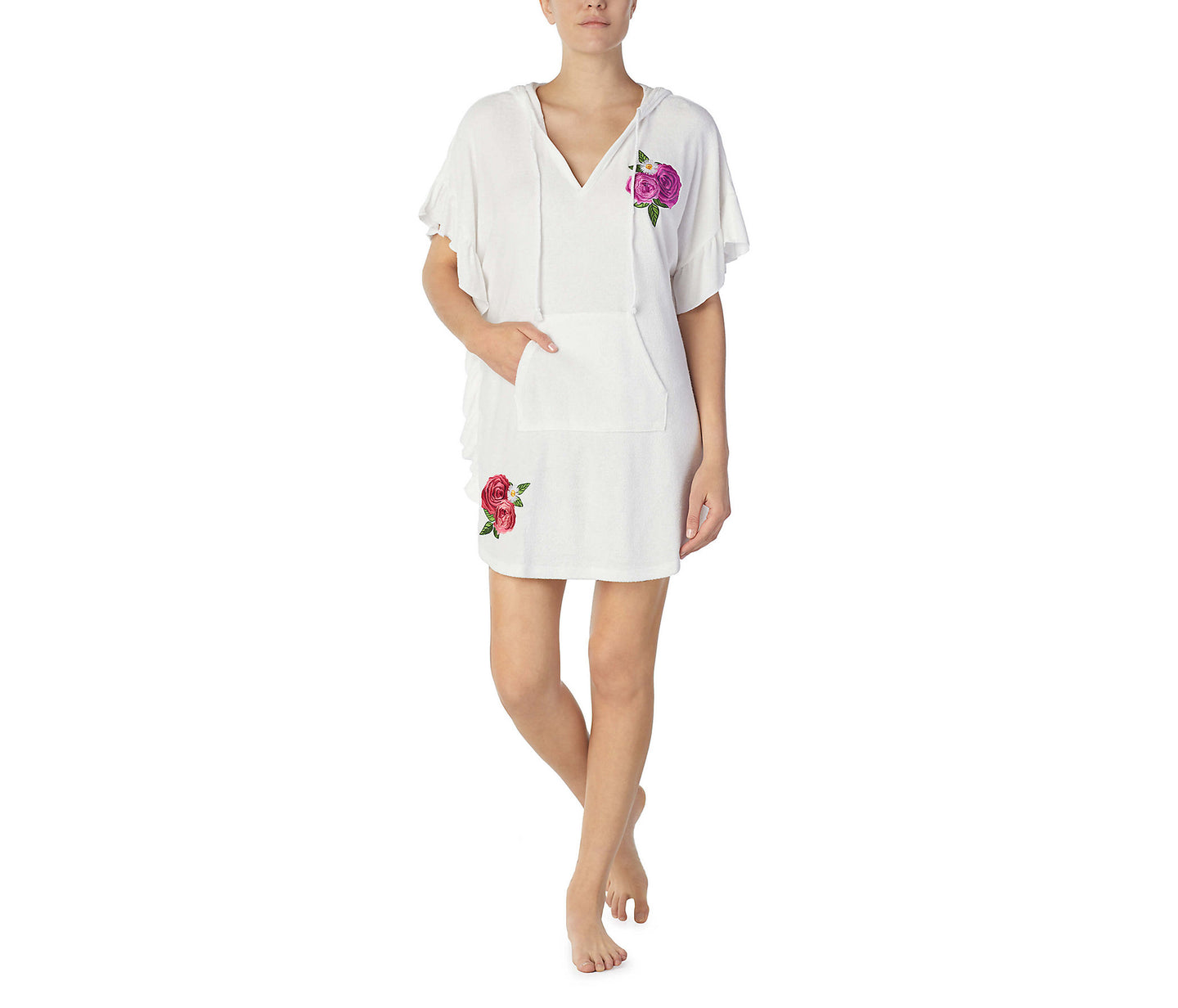 BEAUTY AND THE BEACH TUNIC WHITE - APPAREL - Betsey Johnson