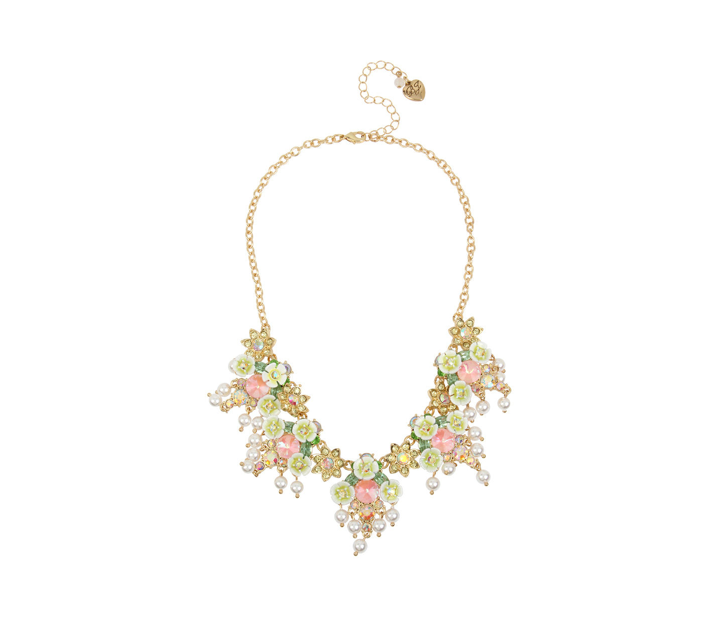 BEE MINE FLOWER CLUSTER NECKLACE YELLOW - JEWELRY - Betsey Johnson