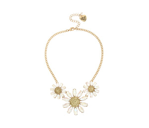BEE MINE FLOWER FRONTAL NECKLACE YELLOW