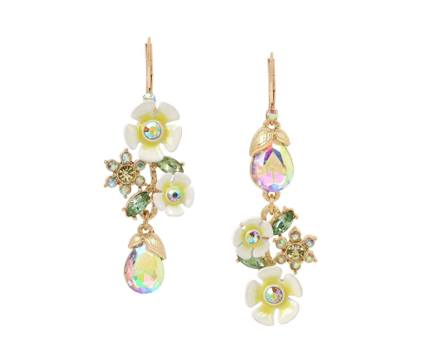 BEE MINE FLOWER SHAKY EARRINGS YELLOW - JEWELRY - Betsey Johnson