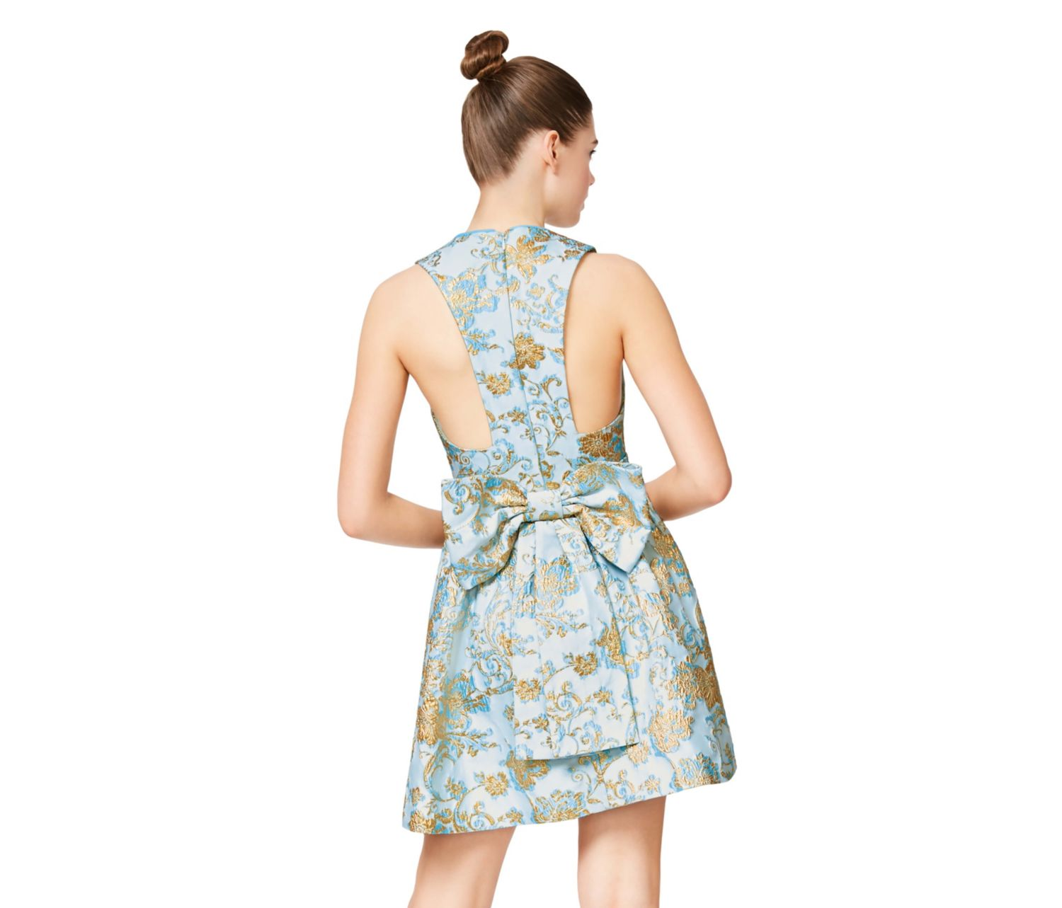 4695a72df7 ... BELLE OF THE BALL BOW BACK DRESS GOLD MULTI - APPAREL - Betsey Johnson