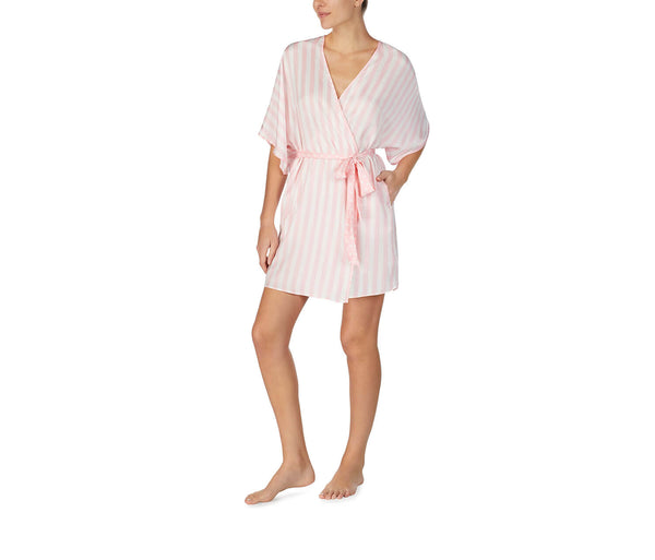 BEST DAY EVER WASHED SATIN ROBE PINK - APPAREL - Betsey Johnson