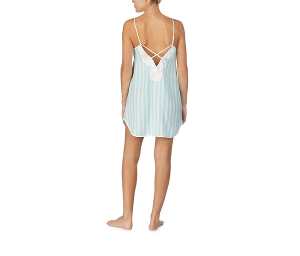 BEST DAY EVER WASHED SATIN SLIP BLUE - APPAREL - Betsey Johnson