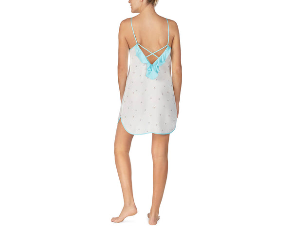 BEST DAY EVER WASHED SATIN SLIP WHITE - APPAREL - Betsey Johnson