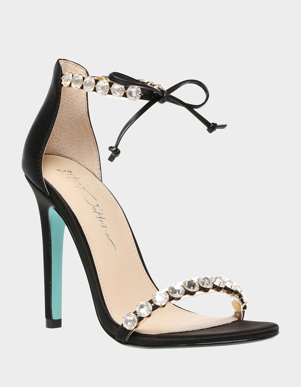 SB-GILLY BLACK SATIN - SHOES - Betsey Johnson