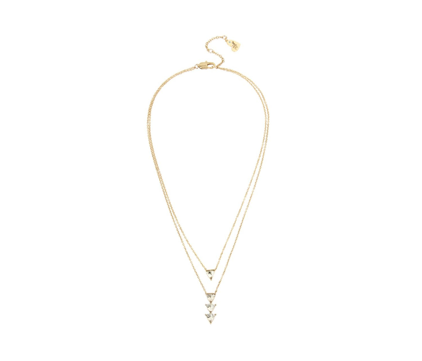BETSEY BLUE LOVE LETTERS GOLD DOUBLE PENDANT GOLD - JEWELRY - Betsey Johnson