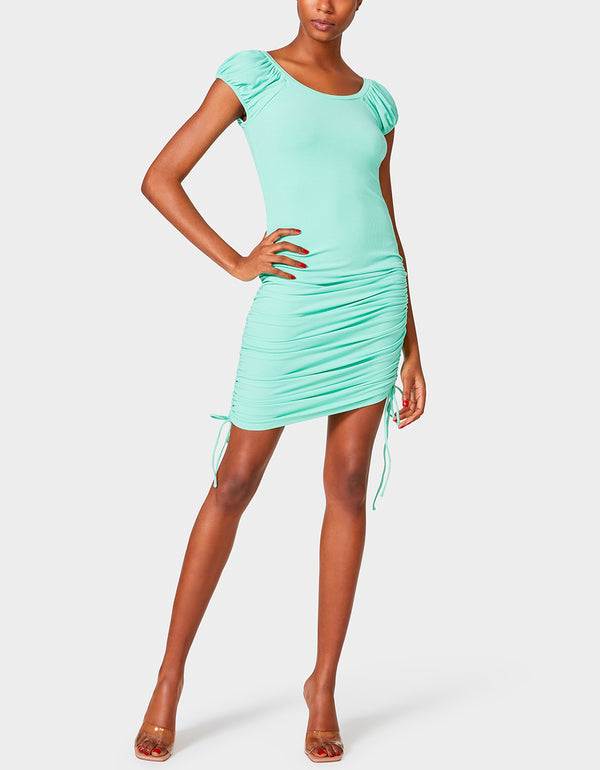 CONFIDENCE CAP SLEEVE DRESS GREEN - APPAREL - Betsey Johnson
