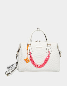 CHAINED UP SNAKE SATCHEL WHITE