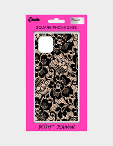 BETSEY LACE CASE FOR IPHONE 11 BLACK/PINK
