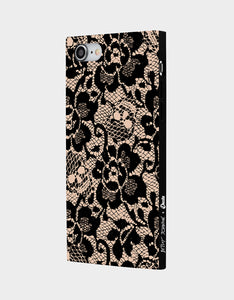 BETSEY LACE CASE FOR IPHONE 8 AND 7 BLACK/PINK