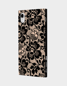 BETSEY LACE CASE FOR IPHONE XR BLACK/PINK