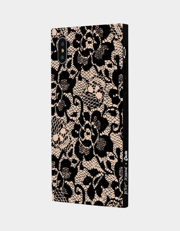 BETSEY LACE CASE FOR IPHONE XS MAX BLACK/PINK - ACCESSORIES - Betsey Johnson