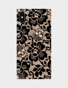 BETSEY LACE CASE FOR IPHONE XS MAX BLACK/PINK