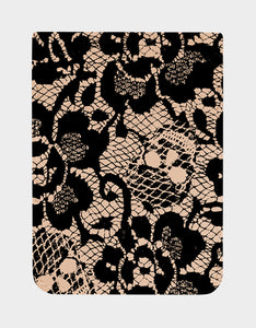 BETSEY LACE PHONE POCKET BLACK/PINK