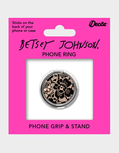 BETSEY LACE PHONE RING BLACK/PINK
