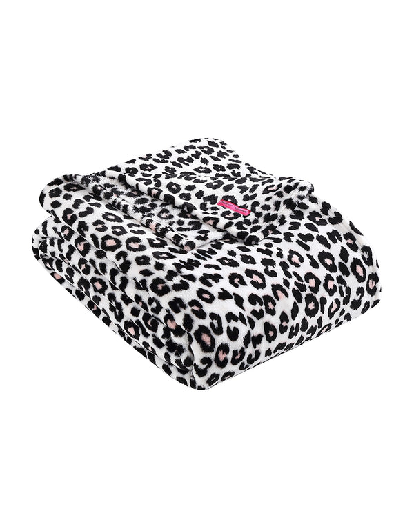 BETSEY LEOPARD KING BLANKET PINK - BEDDING - Betsey Johnson