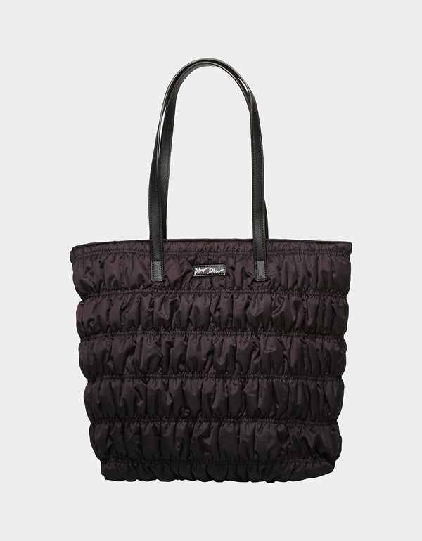 AMUSE RUCHE TOTE BLACK - HANDBAGS - Betsey Johnson