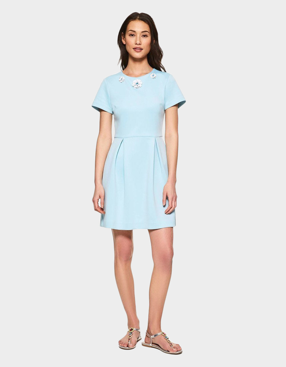 ICING ON TOP DRESS LIGHT BLUE - APPAREL - Betsey Johnson
