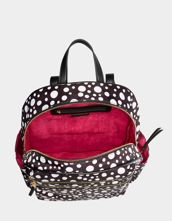 ALL MIXED UP BACKPACK BLACK-WHITE - HANDBAGS - Betsey Johnson