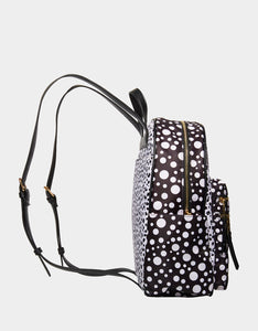 ALL MIXED UP BACKPACK BLACK-WHITE