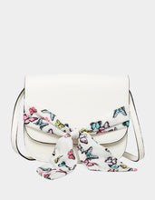 SCARF FLAP CROSSBODY WHITE MULTI - HANDBAGS - Betsey Johnson