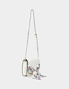 SCARF FLAP CROSSBODY WHITE MULTI