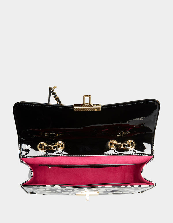 STRAWBERRY FIELDS CROSSBODY BLACK - HANDBAGS - Betsey Johnson