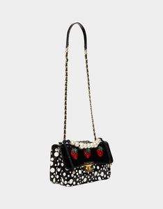 STRAWBERRY FIELDS CROSSBODY BLACK