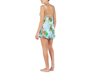 BETSEYS BABES SHORT SET BLUE MULTI