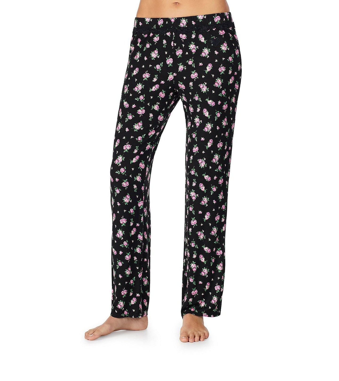 BETSEYS BEST RAYON KNIT PANT FLORAL - APPAREL - Betsey Johnson