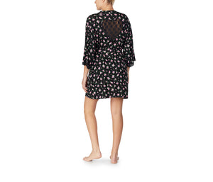 BETSEYS BEST RAYON KNIT ROBE FLORAL