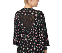 BETSEYS BEST RAYON KNIT ROBE FLORAL - APPAREL - Betsey Johnson