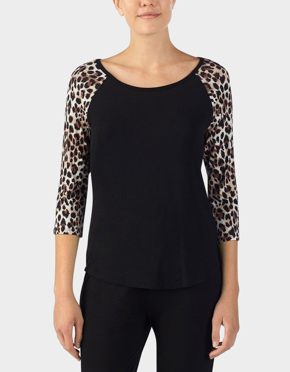 BETSEYS BEST RAYON KNIT TEE LEOPARD - APPAREL - Betsey Johnson