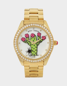 BETSEYS CACTUS WATCH GOLD