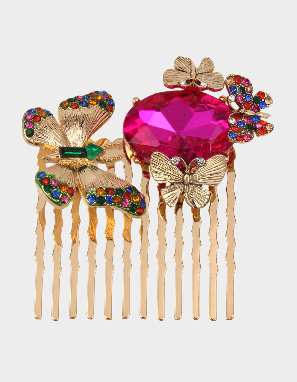 BETSEYS DAYDREAM BUTTERFLY COMB MULTI - JEWELRY - Betsey Johnson