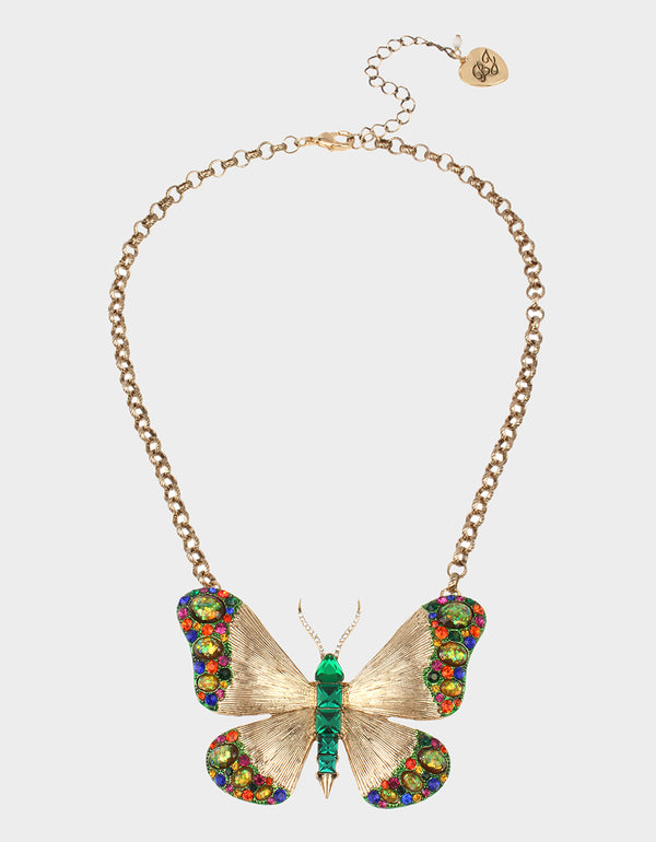 BETSEYS DAYDREAM BUTTERFLY PENDANT MULTI - JEWELRY - Betsey Johnson