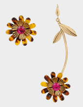 BETSEYS DAYDREAM FLOWER MISMATCH EARRINGS FUCHSIA - JEWELRY - Betsey Johnson