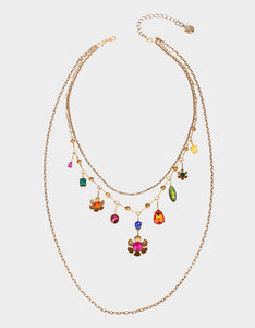 BETSEYS DAYDREAM MULTI ROW NECKLACE MULTI